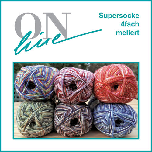 Supersocke Norweger Color (meliert) 100g Knäuel